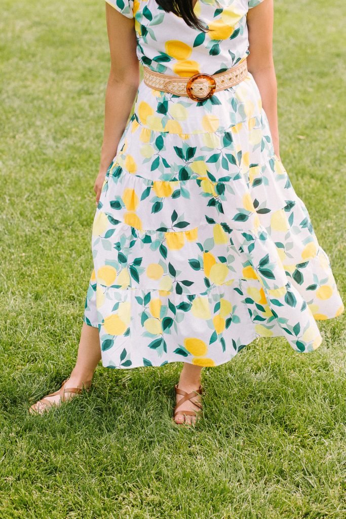 Lemon Print Skirt From Who What Wear Collection