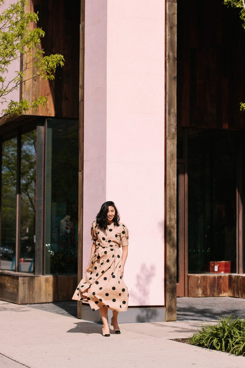 Head to Toe Polka Dot Outfit That You Will Love