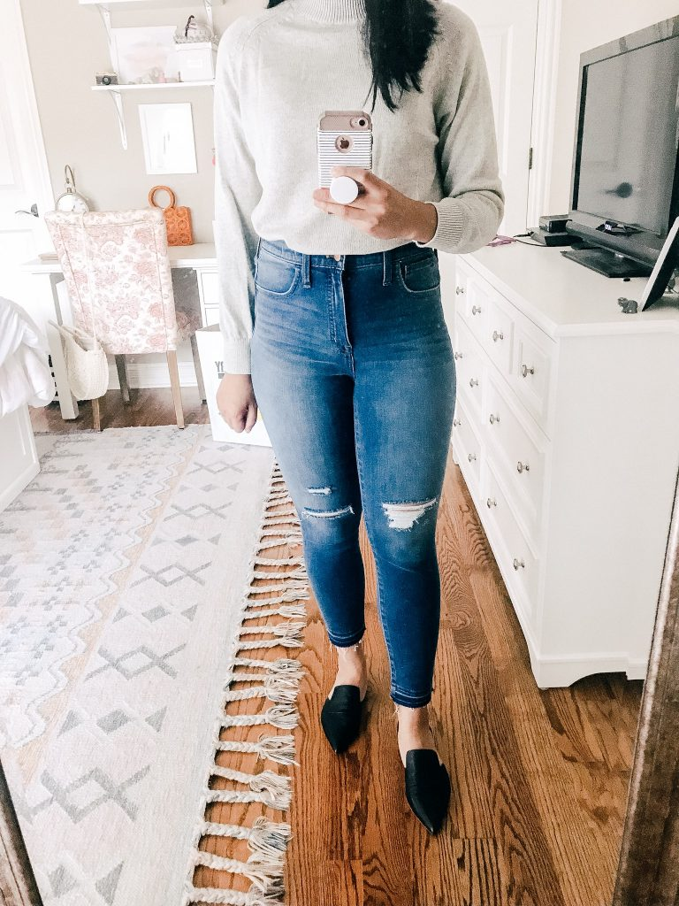 Madewell Ripped High Waisted Skinny Jeans