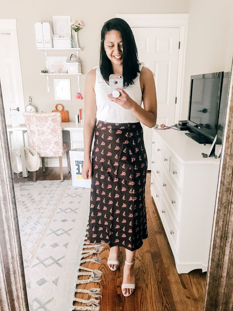 Nordstrom Sale - Something Navy Midi Skirt