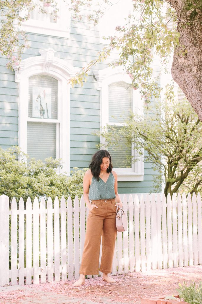 How to wear Everlane Wide Leg Pants