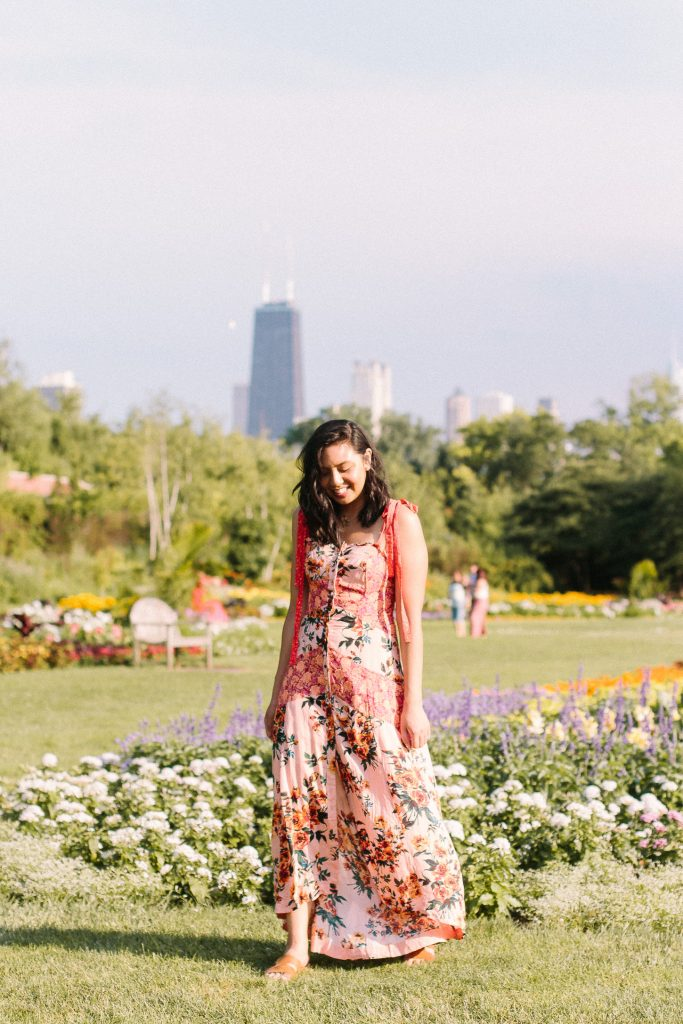 The best Free People floral maxi dress.