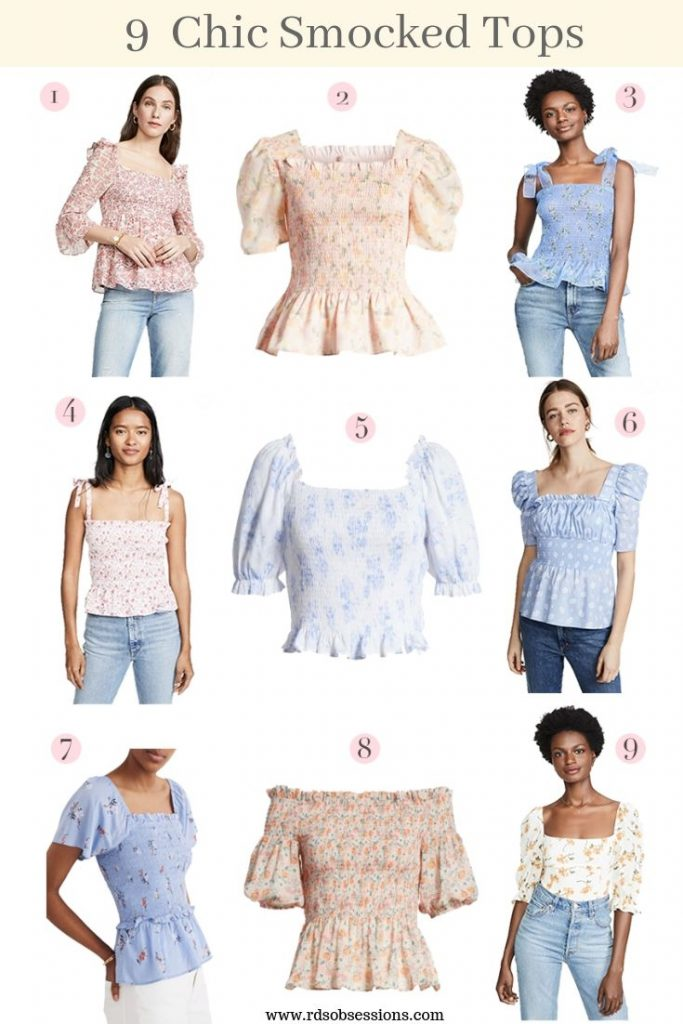9 Chic & Fashion Forward Smocked Tops