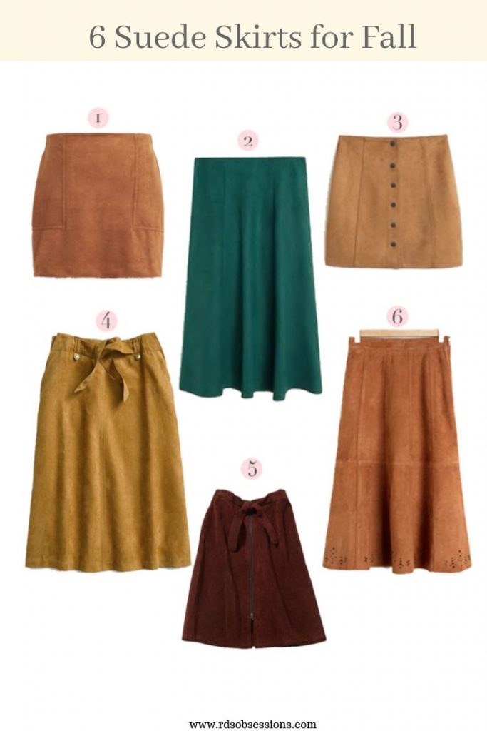 6 Suede Skirts For Fall