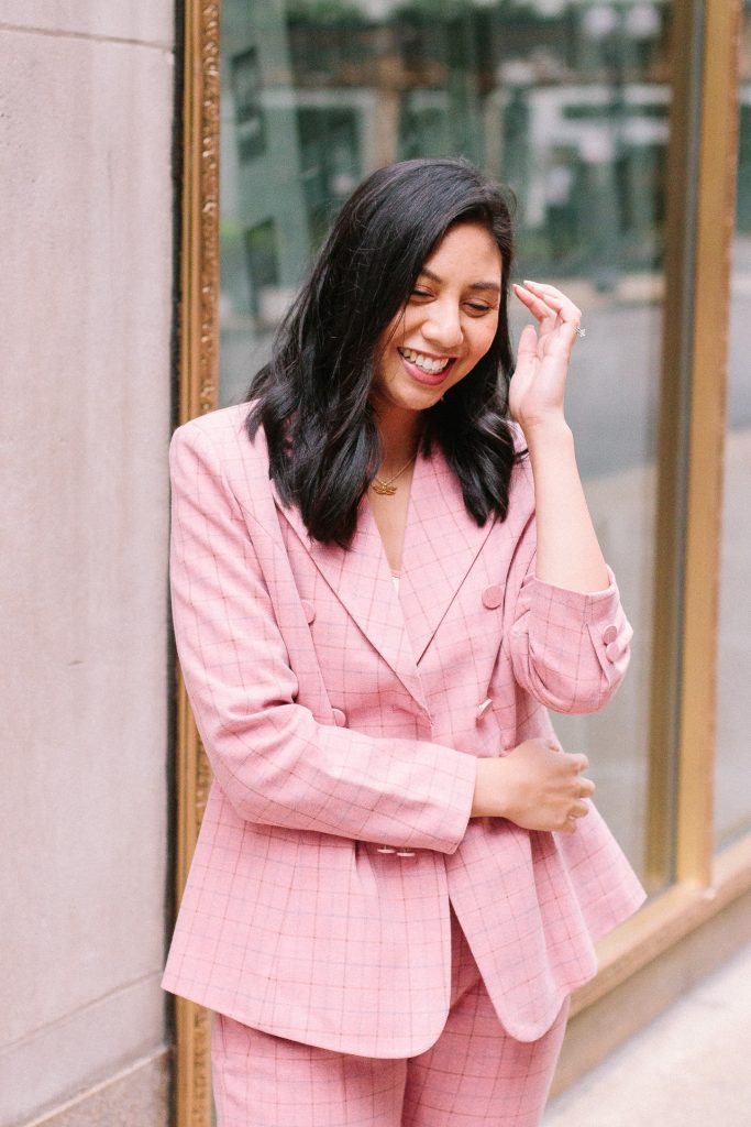 Pink Power Suit - Pink Plaid Suit