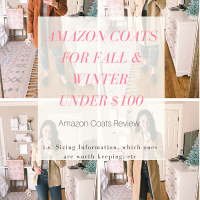 4 Amazon Coats for Fall (and Winter) Under $100 & Amazon Gift Card Giveaway