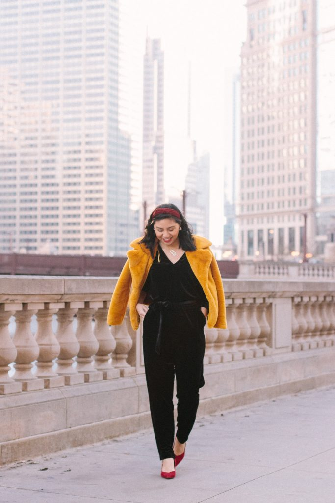 How to style a velvet jumpsuit