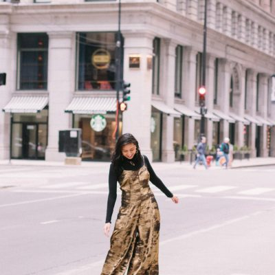 Metallic Jumpsuit For Christmas & New Years Eve Outfit