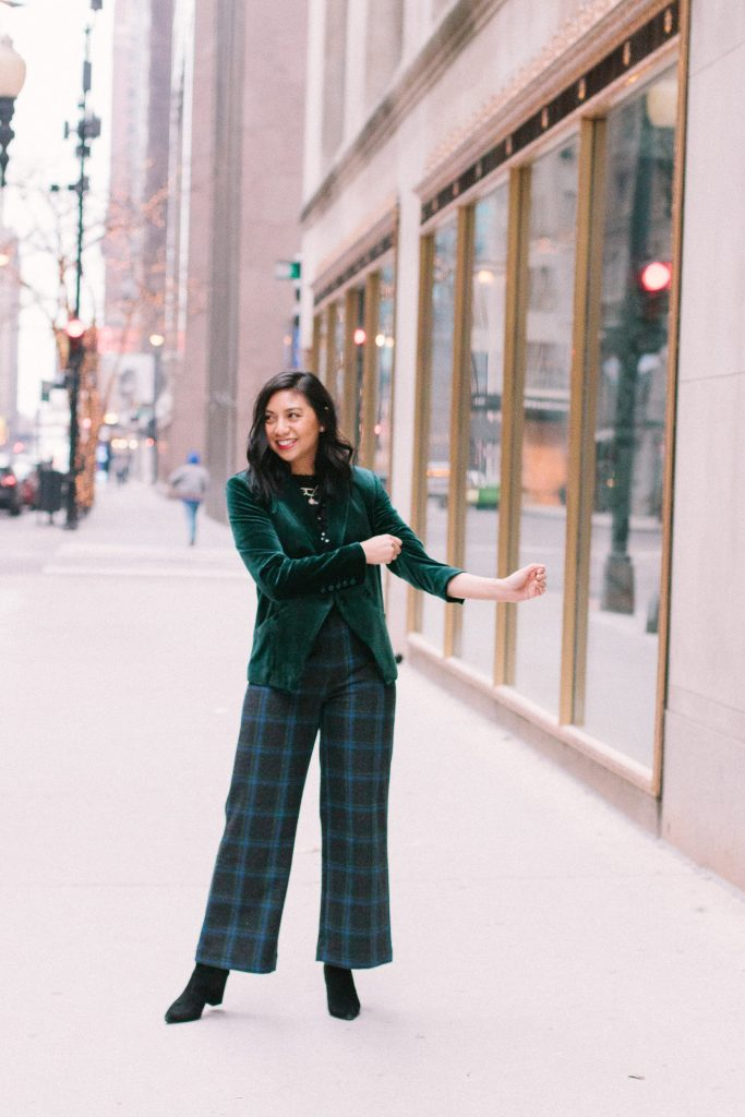 How to style velvet blazer