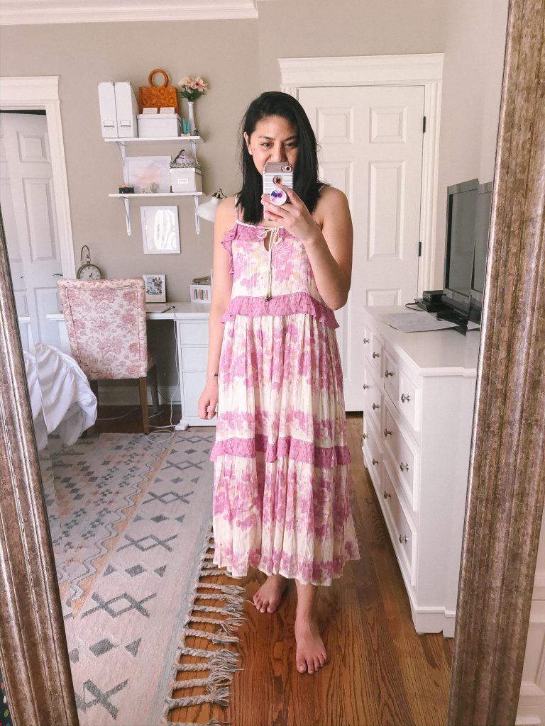Strappy Embroidered Maxi Dress - Vacation outfit.