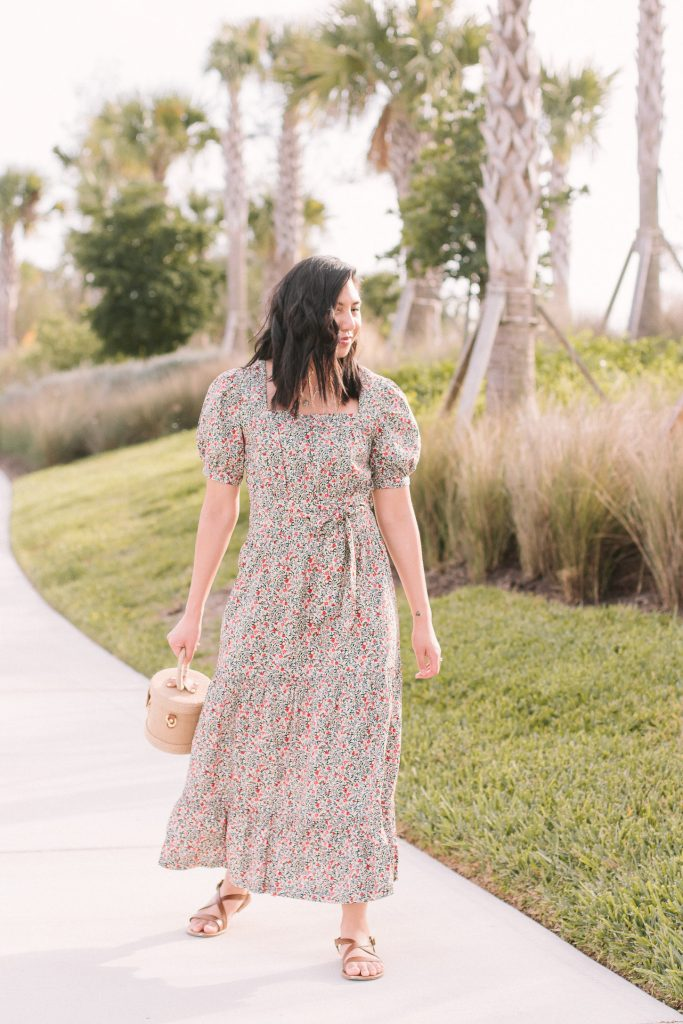 Floral Puff Sleeve Dress for Spring