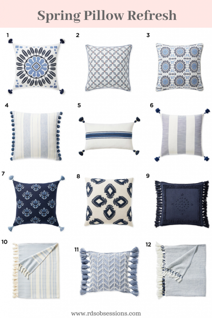 Spring Pillow Refresh - Serena & Lily Spring Sale.