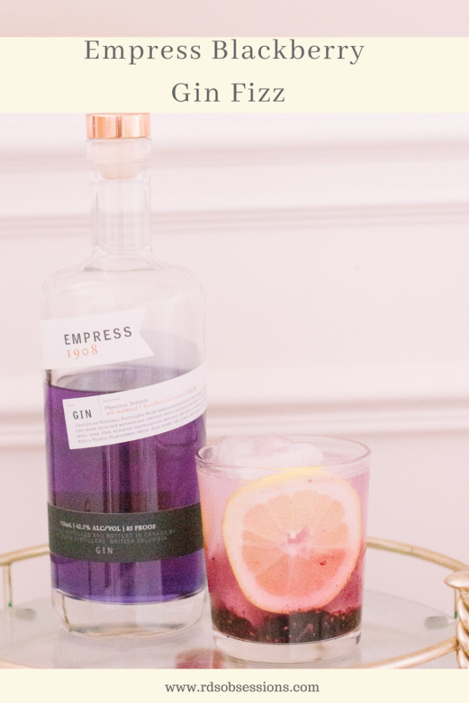 Empress Blackberry Gin Fizz Recipe