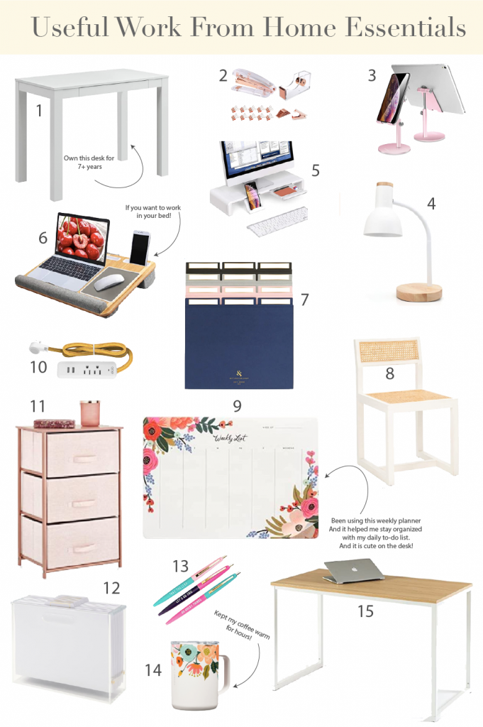 12 Useful Work From Home Essentials