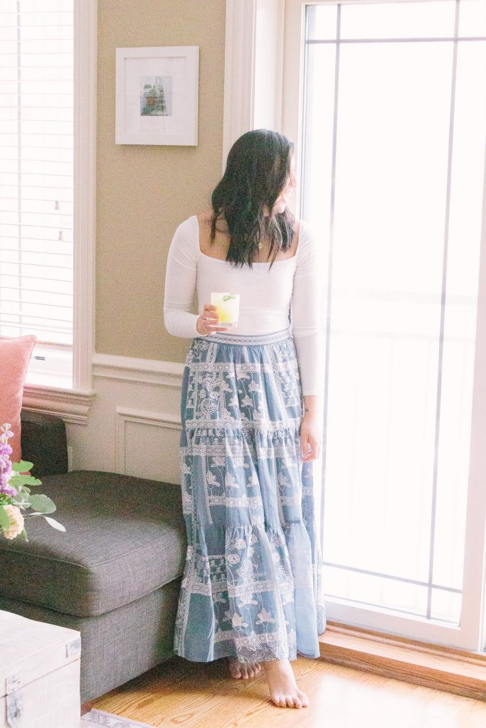 Embroidered Spring Skirt