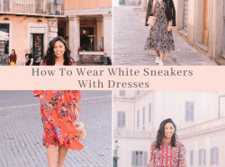 How To Wear White Sneakers With Dresses