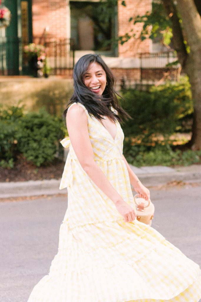 The Yellow Gingham Dress That Really Works