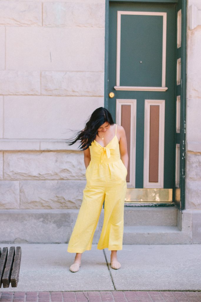 Two Different Ways To Style A Yellow Jumpsuit