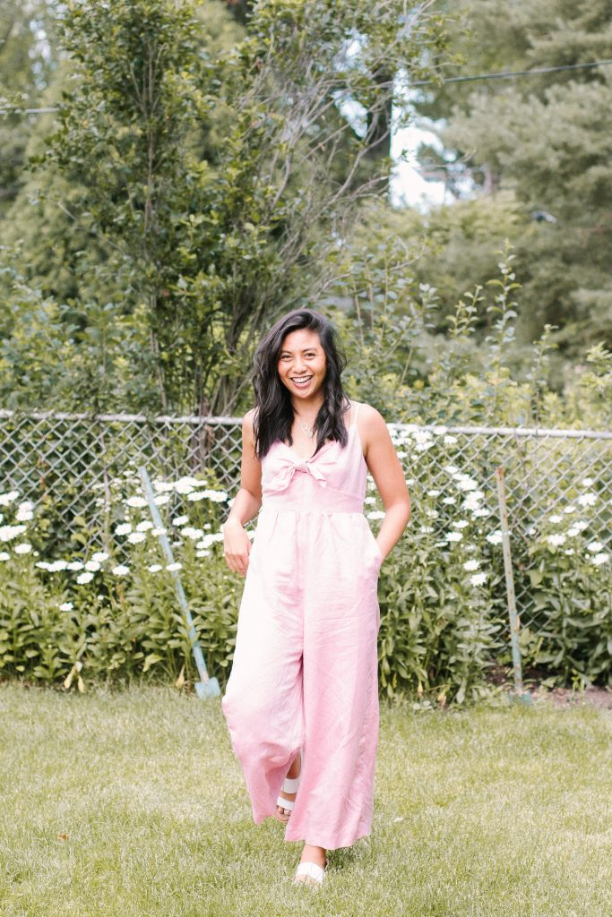 The Pink Linen Jumpsuit For The Summer