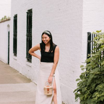 A Good A-Line Side Slit Skirt For Summer Date Night + Nordstrom Giveaway