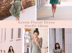 Green Floral Dress Outfit Ideas