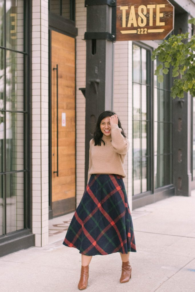 How To Style A Flannel Skirt