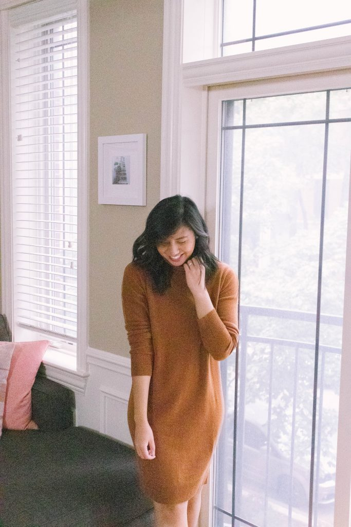 Recycled Cashmere Sweater Dress
