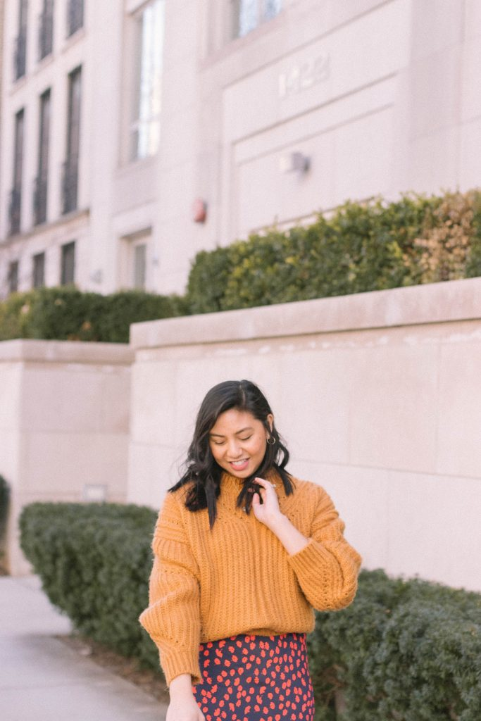 How to style a chunky knit sweater