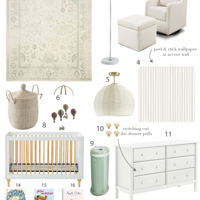 Our Gender Neutral Nursery Ideas + $1000 Amazon Giveaway