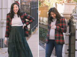How To Style A Tartan Plaid Blazer