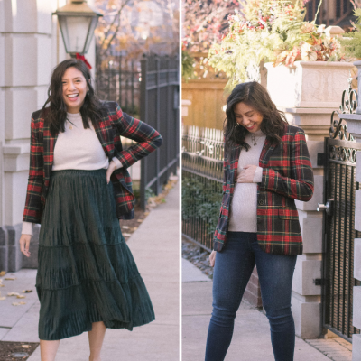How To Style A Tartan Plaid Blazer + Visa Gift Card Giveaway