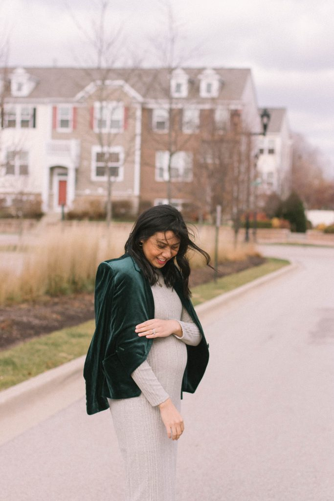 Maternity Sweater Dress - Maternity Holiday Outfit