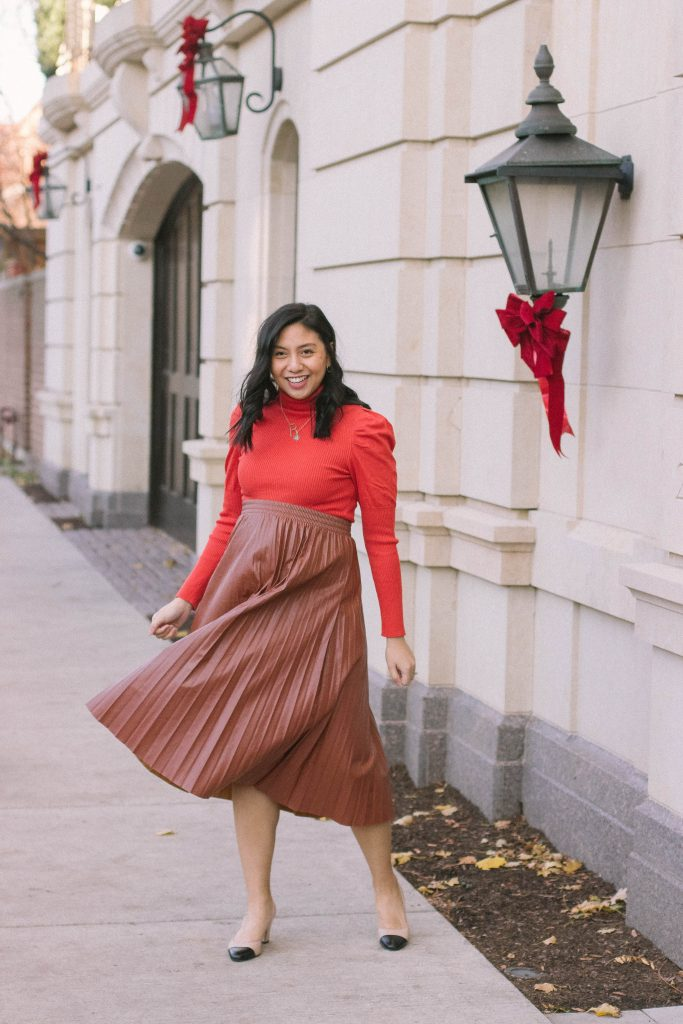 How To Wear Faux Leather Skirt