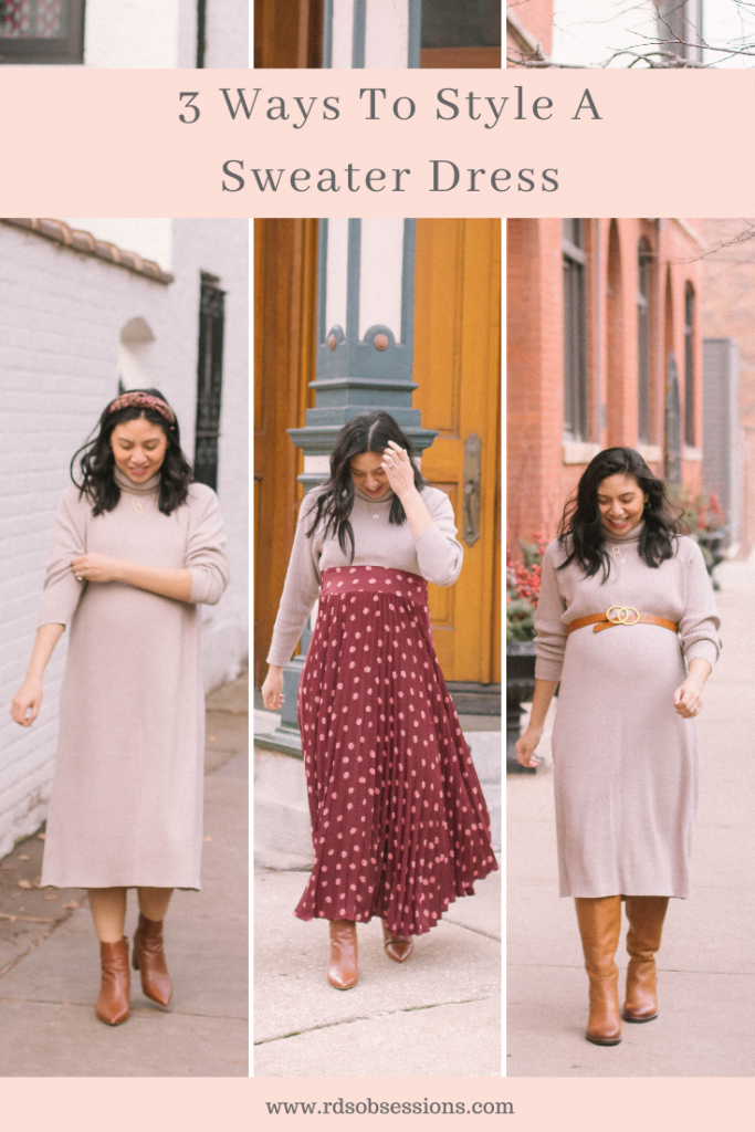 Ways To Style A Sweater Dress
