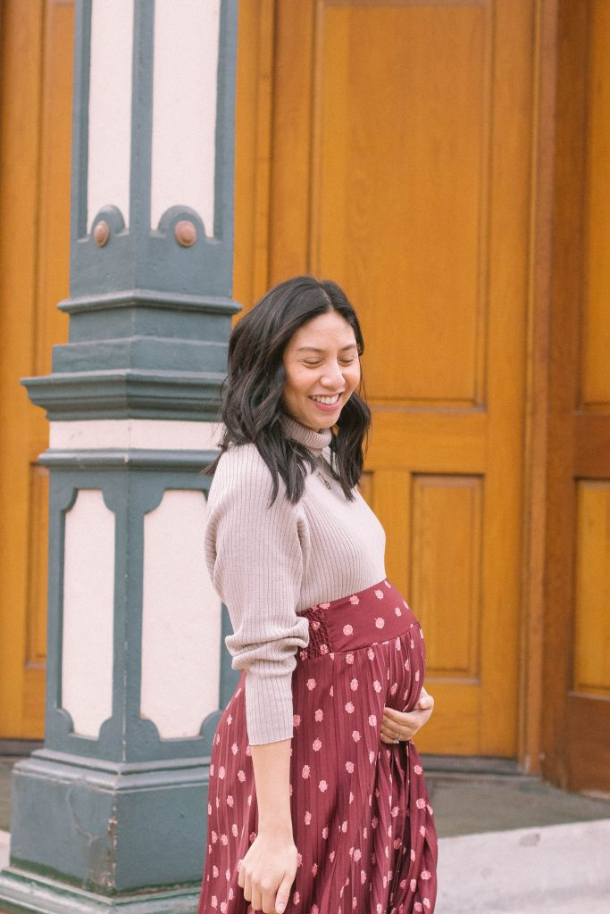 Maternity Skirt Outfit