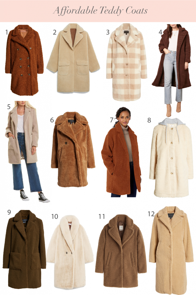 12 Affordable Teddy Coats