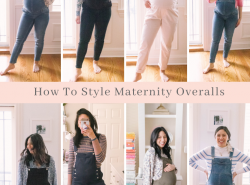 How To Style Maternity Overalls - Maternity Overalls Outfit Ideas