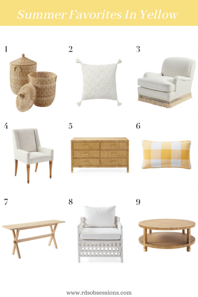 Serena & Lily Summer furniture in Yellow